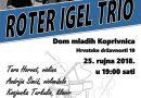 "25.9.2018. Koncert: ""ROTER IGEL TRIO"", Dom mladih u 19:00 sati"