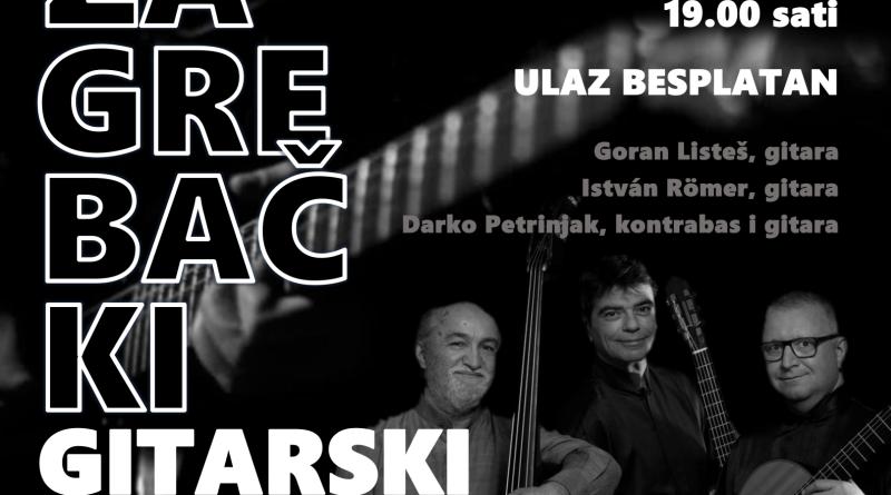 22 3 Koncert Zagrebacki Gitarski Trio Galerija Mijo Kovacic U
